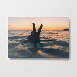 Peace Out / Ocean Sunset / Magic Hour Metal Print