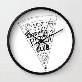 Best Brooklyn Pizza Club Wall Clock