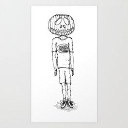 Happy Halloween (B & W) Art Print