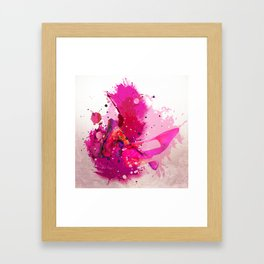 Kiss, kiss, kiss Framed Art Print