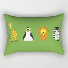 Geometric zoo Rectangular Pillow