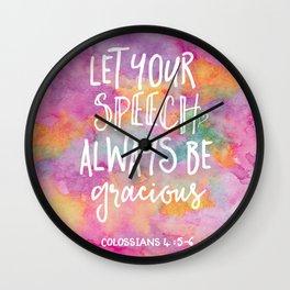 Be Gracious Wall Clock
