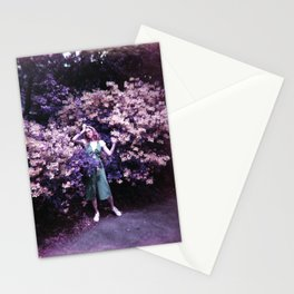 Girl in the Flowers - Holga Film Photograph Stationery Cards
