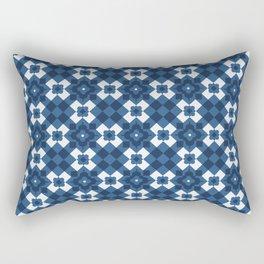 Retro Blue Architetural Decorative Home Decor Design Rectangular Pillow
