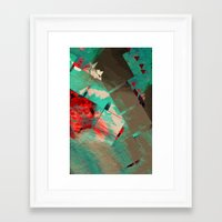 geo Framed Art Prints featuring Geo by Zephyr