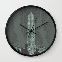 Empire State NY Wall Clock