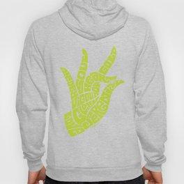 Heart Hand Bright Yellow Lime Hoody