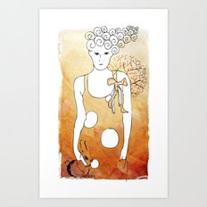 ordinary girl Art Print