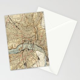Vintage Map of Richmond Virginia (1934) Stationery Cards