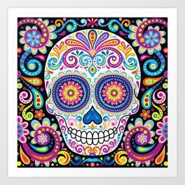 Sugar Skull (Cosmos) Art Print