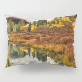 Transition Of The Seasons in Rocky Mountains Colorado by OLena Art Pillow Sham
