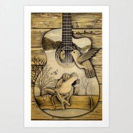 Porch Song Drawing Art Print