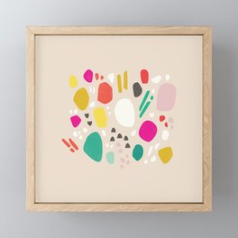 Flower Field Terrazzo - Pink Framed Mini Art Print