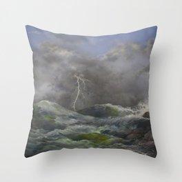 Storm Warnings Throw Pillow