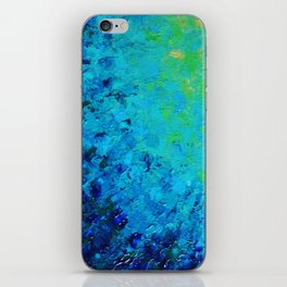TRUE REFLECTION - Ocean Water Waves Ripple Light Impressionist Bright Colors Ombre Painting iPhone Skin