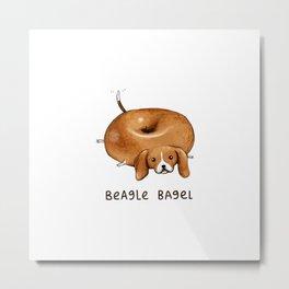 Beagle Bagel Metal Print