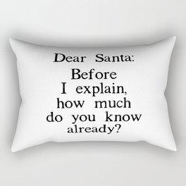 Funny Dear Santa Letter Christmas Gift Rectangular Pillow