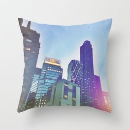 NYC CNN building skyline Throw Pillow
