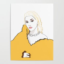 CHRISTINA AGUILERA LIBERATION Yellow Fur Jacket Poster