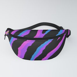 Pink and Purple Exotic Zebra Pattern Fanny Pack