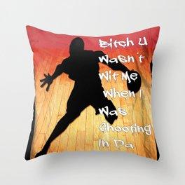 Shooting In Da Gym Throw Pillow