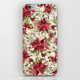 POINSETTIA - FLOWER OF THE HOLY NIGHT iPhone Skin