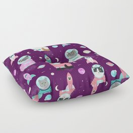 Space Cats pet portraits cute cat gifts cat lady outer space cadet rockets Floor Pillow