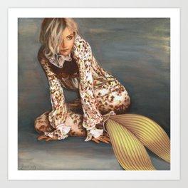 Sienna Mermaid Art Print