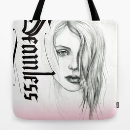 Seamless  - pencil portrait with pink ombre Tote Bag