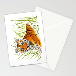 Zeus Tiger Bright Eyes Stationery Cards