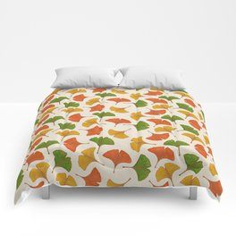 Fall ginkgo biloba leaves pattern Comforters