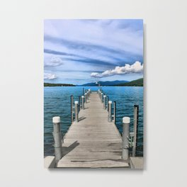 Stepping to the Sea Metal Print