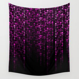 Bright Neon Pink Digital Cocktail Party Wall Tapestry