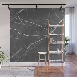 Gray marble abstract texture pattern Wall Mural