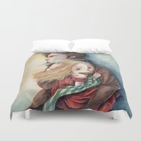 les miserables Duvet Covers featuring les miserables by Fabiana Attanasio