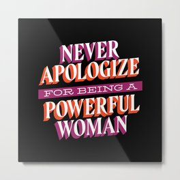 Powerful woman support Metal Print