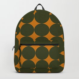 Circles/Sparks (Olive & Orange) Backpack