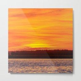 Fiery sunset on the Pike lake Metal Print