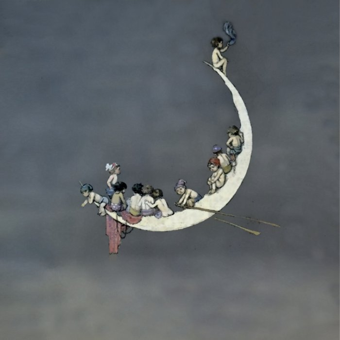 """ Moon's First Voyage"" Fairy Art by W Heath Robinson Comforters"