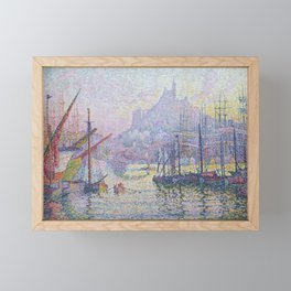 View of the Port of Marseilles Framed Mini Art Print