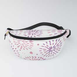 Abstract watercolor sparkles – pastel pink and ultra violet Fanny Pack