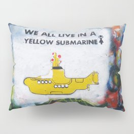Yellow Submarine Graffiti Pillow Sham