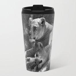 Portland Lioness B&W Travel Mug