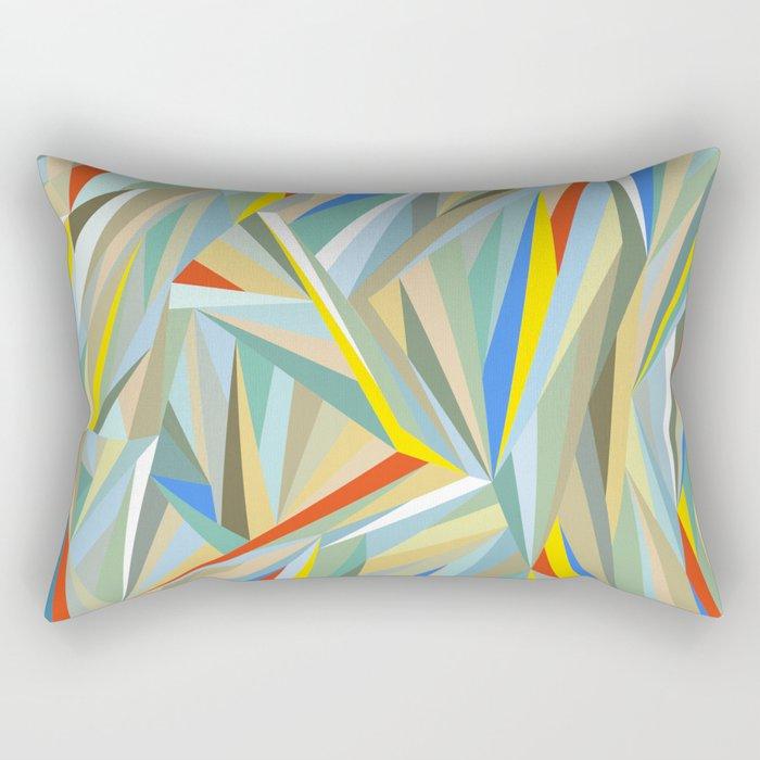 Sliced Fragments Rectangular Pillow