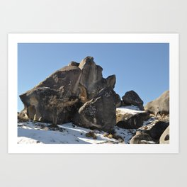Castle Rock, New Zealand Art Print