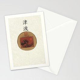 noh tsunami Stationery Cards