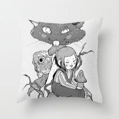 mush cat Throw Pillow