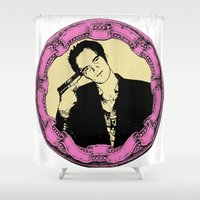 tarantino Shower Curtains featuring Tarantino by Guido prussia