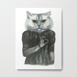 Cat Child Metal Print