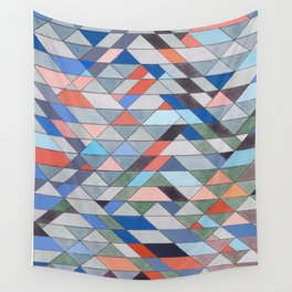 Triangle Pattern No. 7 Diagonals Wall Tapestry